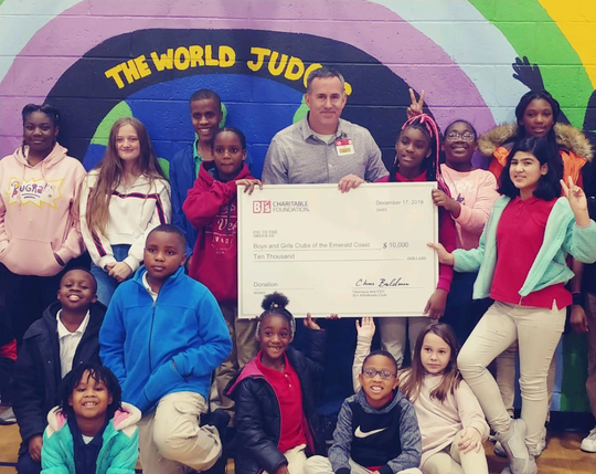 BJ's Wholesale Club donates $10K to the Boys & Girls Clubs of the Emerald Coast.