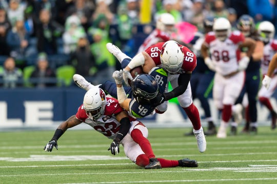 The Arizona Cardinals' defense came up big against the Seattle Seahawks on Sunday.