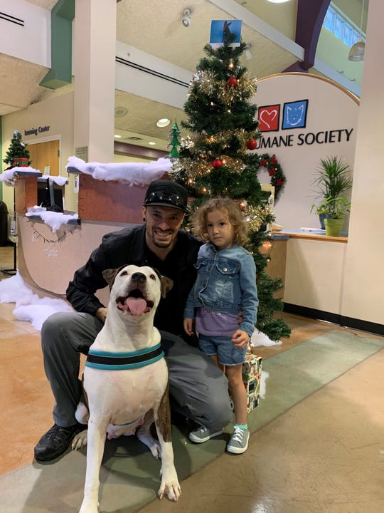"""4-year-old Baby found her """"furever home"""" on Monday, after being the last dog left at the Campus for Compassion this weekend."""