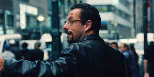 """Adam Sandler stars in """"Uncut Gems."""" The movie opens Wednesday at Regal West Manchester, Queensgate Movies 13 and R/C Hanover Movies."""