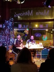 Andrew Funkhouser (left) and Matt McPherson will record their podcast, Oh My Goss, at 7 p.m. Dec. 26 in New Boswell Brewery & Tap Room. They also recorded an episode there last year.