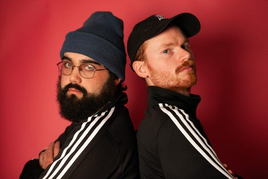 Matt McPherson (left) and Andrew Funkhouser, two Richmond natives, stay connected with each other and Richmond friends with their podcast, Oh My Goss.