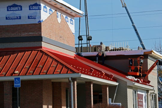 Remodeling of the former Bob Evans restaurant on Richmond's far-east side continues on Monday, Dec. 23, 2019.
