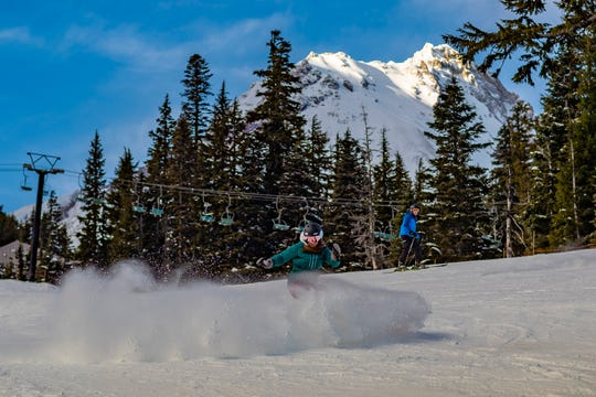 Skiing at Mount Hood Meadows this season has been one of the few bright spots in Oregon, which has seen low snow conditions overall.