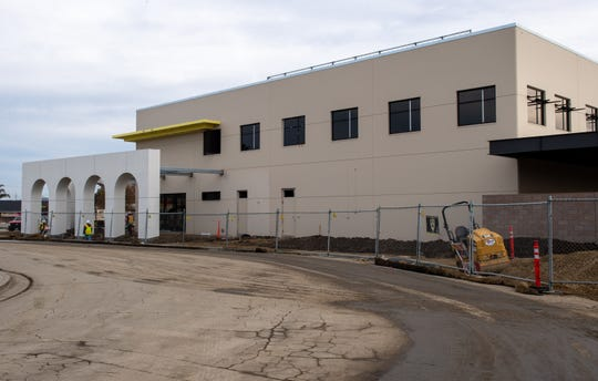 The new Salinas Police Service Headquarters located between E. Alisal and John Street on Dec. 21, 2019.