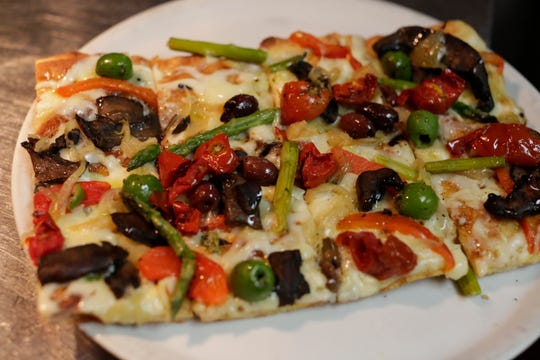 A Roman-style pizza at Prohibition Bistro  in Sheboygan.