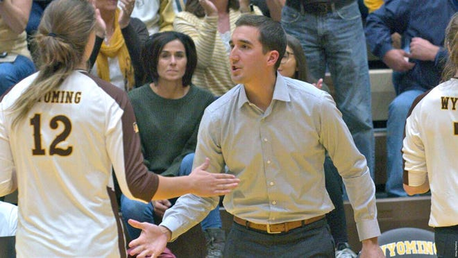 South Dakota State has named Dan Georgalas, shown here with Wyoming, as the new head volleyball coach.