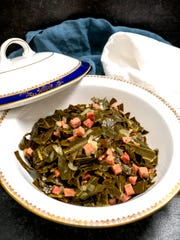 Collard greens are a Southern tradition to bring wealth in the New Year.
