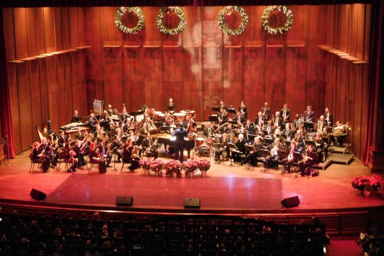 Ruby Diamond Concert Hall was in full holiday swing.