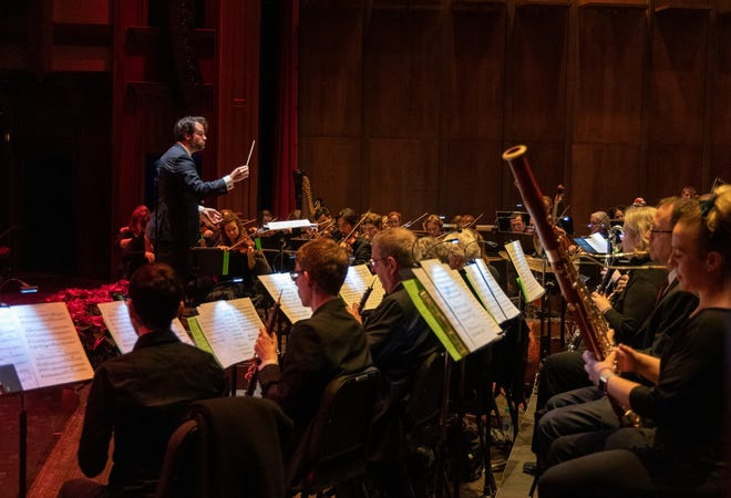 Darko Butorac is shown conducting the Tallahassee Symphony Orchestra. The TSO  is a recipient of the CARES ACT funding through the National Endowment for the Arts. Grants of $50,000 were made to 846 nonprofits nationwide.