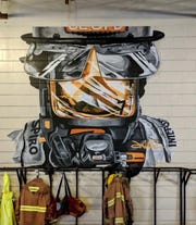 Mural painted by St. Lucie County Firefighter Julian Reams in Station 7 in Lakewood Park. There are 17 stations in the county.