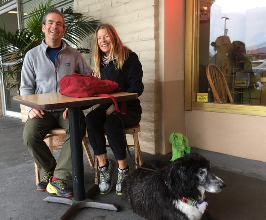 Rob and Patty Burke drive with their border collie, Jake, from Boise, Idaho, to Ventura for Christmas. Rob said the drive provides a chance to slow down and think.