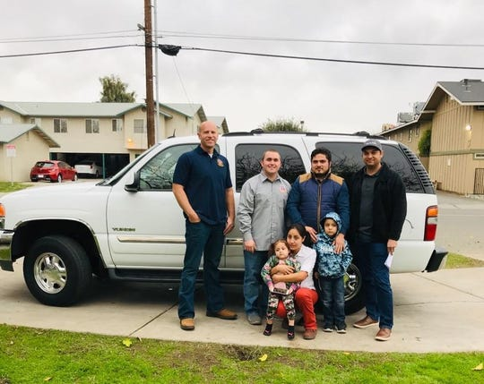 Visalia Police Officer's Association donated a vehicle and gifts to a family for Christmas.