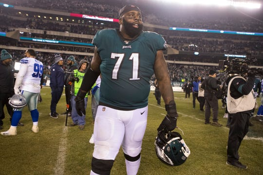 Eagles' offensive lineman Jason Peters.