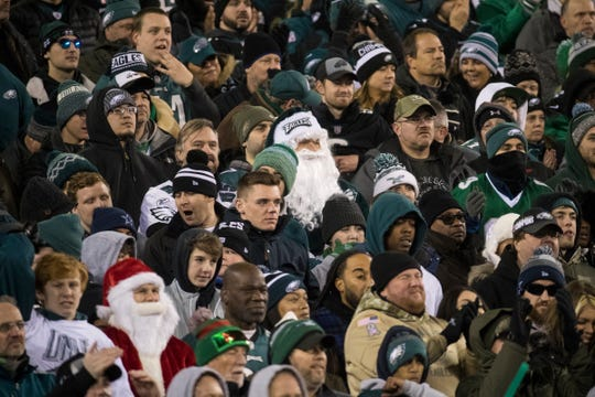 Eagles fans cheer, boo, and take in the game as the Eagles face the Dallas Cowboys Sunday, Dec. 22, 2019 at Lincoln Financial Field. The Eagles defeated the Cowboys 17-9.