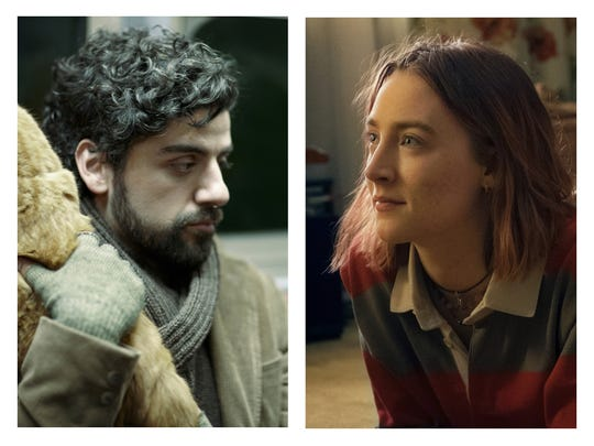 "Oscar Isaac and Saoirse Ronan played characters questioning their paths in ""Inside Llewyn Davis"" and ""Lady Bird"" respectively."