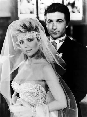Lisa Hartman and Alec Baldwin on CBS soap 'Knots Landing' in 1985.
