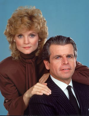 William Devane and Constance McCashin from 'Knots Landing.'