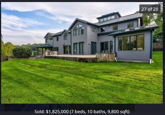 The new home of Mike and Lauren Sorrentino in Holmdel.