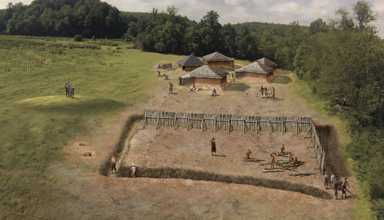 Building Fort San Juan near Joara in the late 1500s. Today, the Berry Site continues to uncover new discoveries.