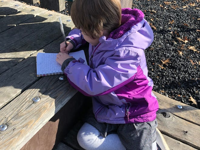 Cub reporter Simone reports from Woodland Mound Park on Christmas Eve.