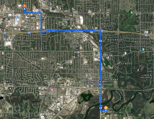 Crime map: Nicole Poole Franklin This Google map shows the three locations where Nicole Marie Poole Franklin, 42, is accused of committing crimes Dec. 9. At location A in Des Moines, she is charged with hitting a 12-year-old boy with her SUV about 3:54 p.m. At location B in Clive, about 4:20 p.m., she allegedly hit Natalia Miranda, 14. At the last location, a Conoco gas station in West Des Moines, she attempted to steal items and called people racial slurs, witnesses told police.