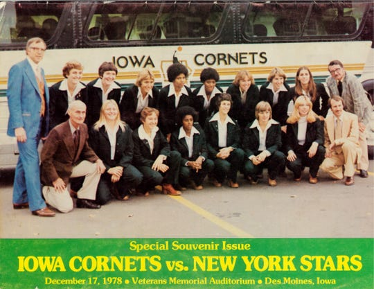 A game program for the Iowa Cornets