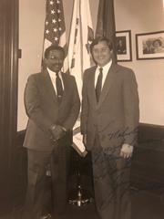 Malcolm G. Dade Jr. with James Blanchard, former governor of Michigan