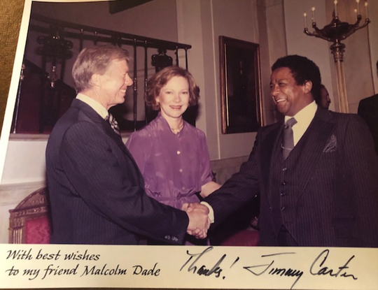 Malcolm G. Dade Jr. with Jimmy Carter, 39th President of the United States