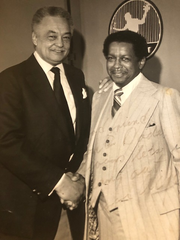 Malcolm G. Dade with Coleman A. Young, former Detroit Mayor
