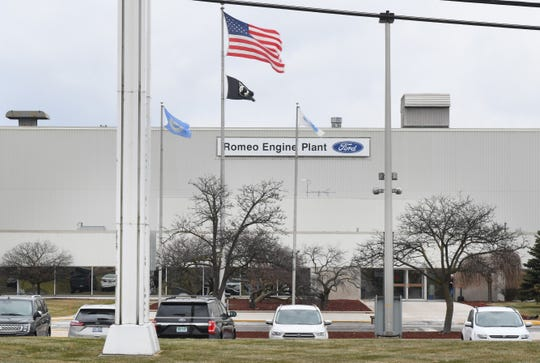 Exterior view of the Ford Romeo Engine Plant in Romeo, Michigan on December 17, 2019.
