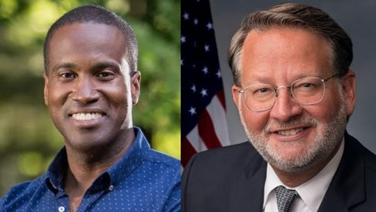 Republican U.S. candidate John James and incumbent Democratic U.S. Sen. Gary Peters are expected to face off in 2020.
