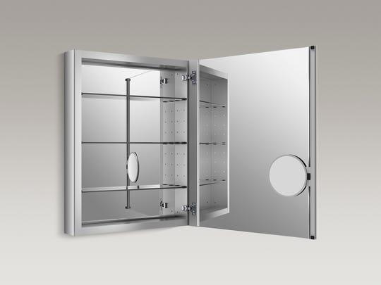 Today's medicine cabinets are quickly evolving into bathroom command centers.