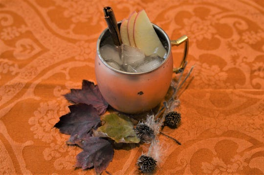 """An Apple Cinnamon Mule from the new cocktail guide, """"Cheers to Michigan."""""""