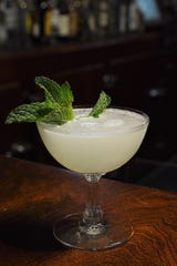 With the Acquavit Gimlet, don't forget the mint leaves.