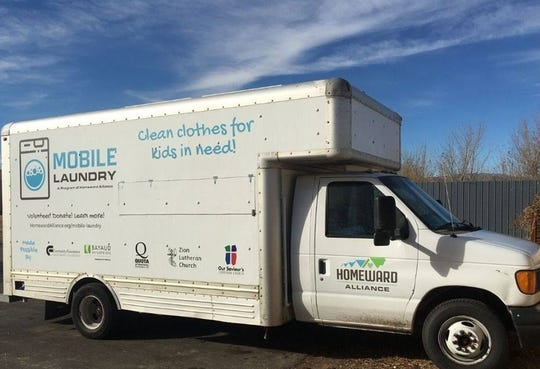 The Mobile Laundry truck operated by Homeward Alliance.