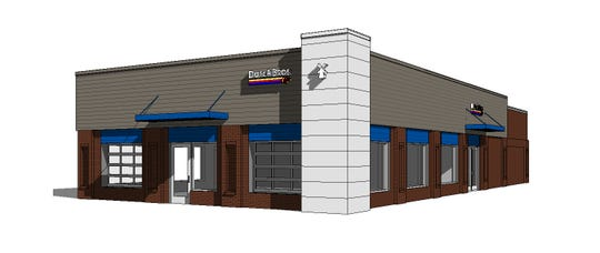 A rendering of what the Dutch Bros Coffee location at 2140 W. Elizabeth St. will look like.