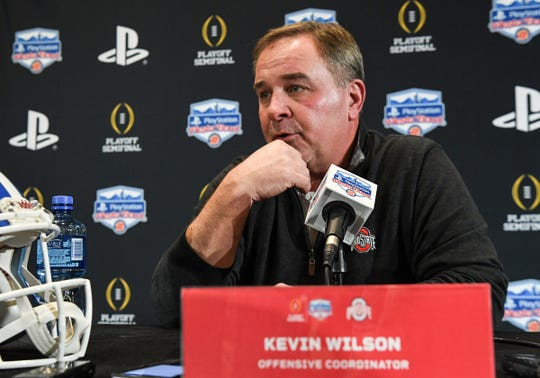 Ohio State offensive coordinator Kevin Wilson during media day in Glendale, Arizona Tuesday, December 24.