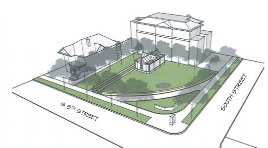 A pocket park will be built in 2020 at the corner of South Ninth and South streets.