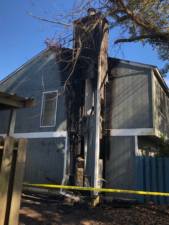 A fireplace blaze damaged a home on Larkspur Lane in north Lafayette.