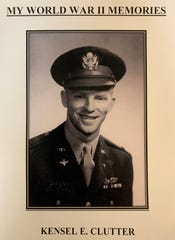 """Kensel E. Clutter is pictured in uniform on the cover of his book """"My World War II Memories."""" The book is a collection of diary entries from Clutter's time in the United States Army Air Force, mostly written during 1943."""