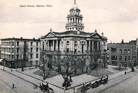 The Marion County Courthouse was completed in 1886 for approximately $115,000. The exterior of the building remains relatively unchanged.
