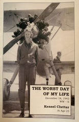 """This is the cover of World War II veteran Kensel E. Clutter's book """"The Worst Day of My Life - December 18, 1943."""" It's available at the Marion County Historical Society."""