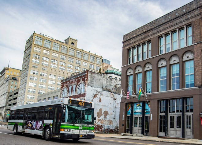 A Memphis Area Transit Authority ( MATA ) bus downtown on Tuesday, Dec. 24, 2019.