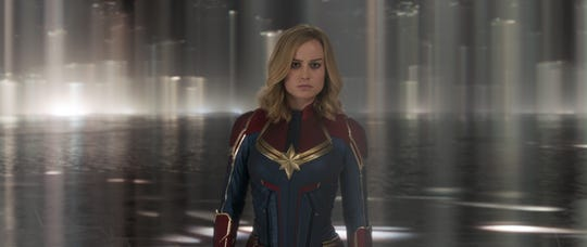 """Captain Marvel (Brie Larson) needs her """"Happy Days"""" lunchbox (and what's inside it) in """"Captain Marvel."""""""