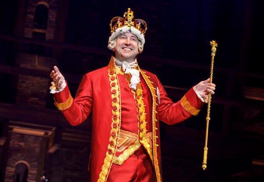 """Peter Matthew Smith as George III in """"Hamilton."""""""
