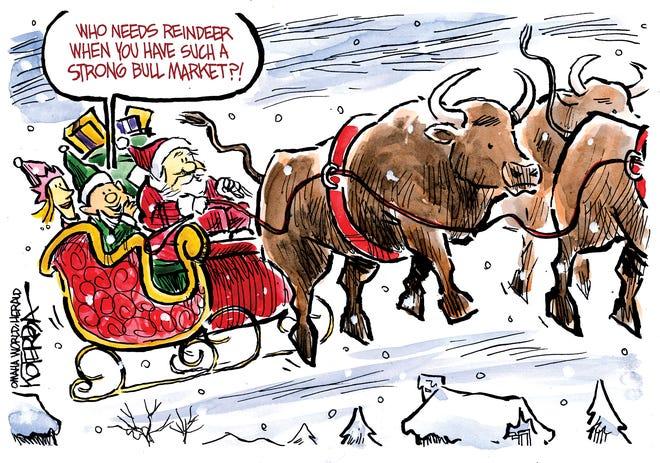 Bull market pulls Santa.