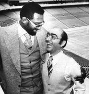 Detroit Pistons' Co-Captain Bob Lanier welcomed newly hired head coach Dick Vitale to the Silverdome in 1973, which was at that time, the new home of the Pistons. Vitale was 37 and was paid $100,000 annually.