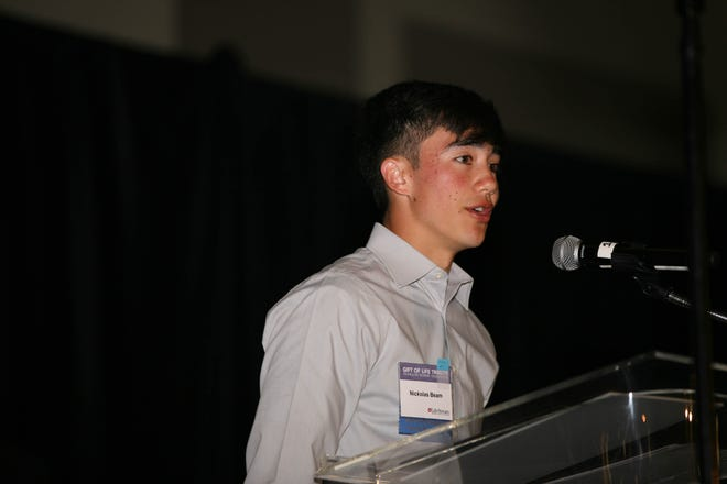 Nickolas Beam was honored with the 2019 Youth Ambassador of the Year Award at the Gift of Life Tribute on Sunday, April 7, 2019.