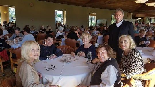 Bruce Landgarten checks in on Madeline Redstone, Margie Kulp, Eileen Zoll, Merle Arenson and Jane Sherman.